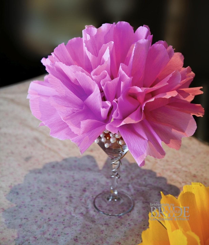 цветы на свадьбу из бумаги
