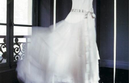 как отпарить свадебное платье