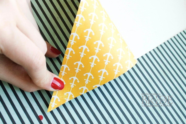 cвадебный скрапбукинг: вертушка из бумаги
