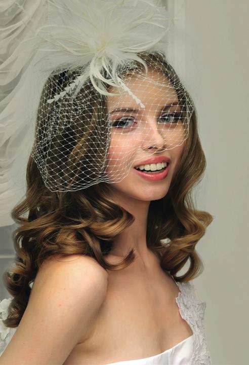 Свадебная прическа без фаты с вуалью