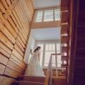 Невеста в отеле зимой