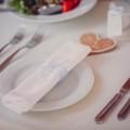 Сервировка для зимней свадьбы