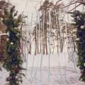 Свадебная арка зимой