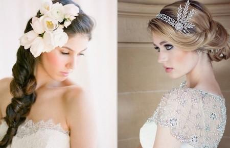 Прическа с цветами или с диадемой?