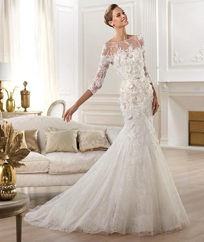Свадебное платье в стиле соблазнительная русалка