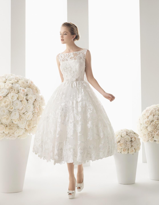 Свадебное платье длиной до щиколотки