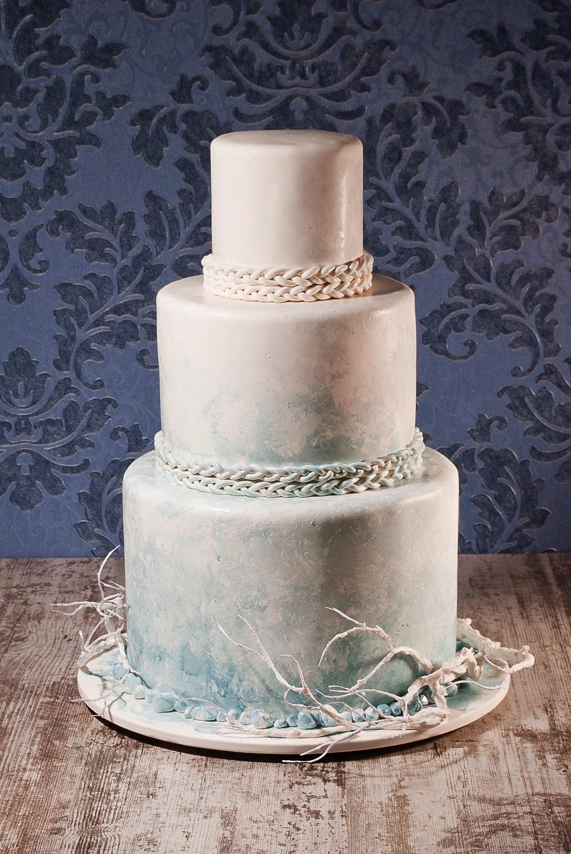 Модный свадебный торт