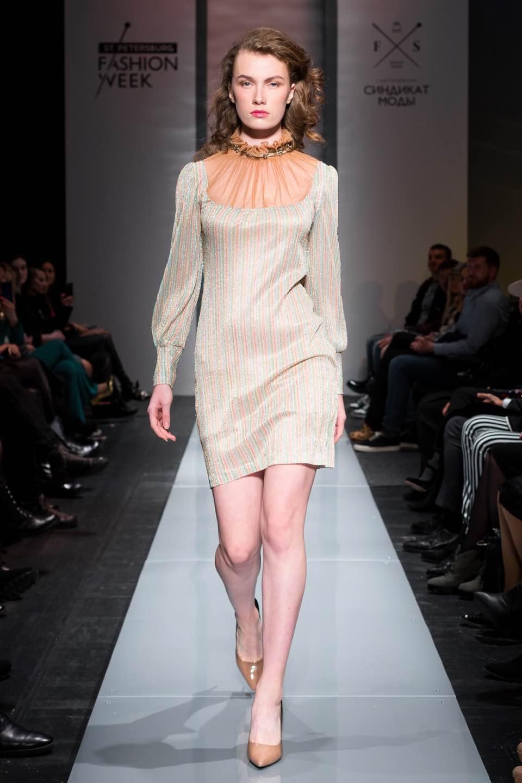 Модель показа Fabric Fancy на SPBFW весна-лето 2019
